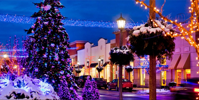 ... Rochester Hills And The Trees Bordering The Mall Can Be Seen In Festive  Multicolored String Lights. Simply Take A Drive Through This Christmas  Village ...