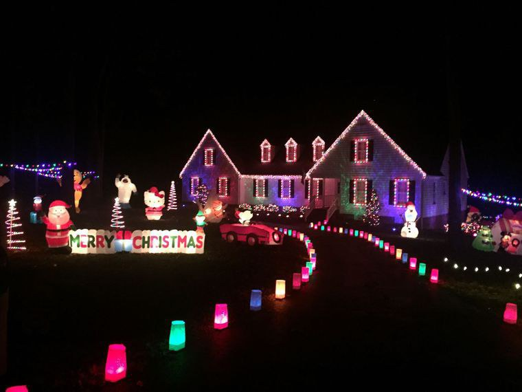 Rather Than Drawing Attention By Draping Their House With Thousands Of  Lights, This House Displays An Array Of Adorable Inflatables, It  Immediately Warms ...