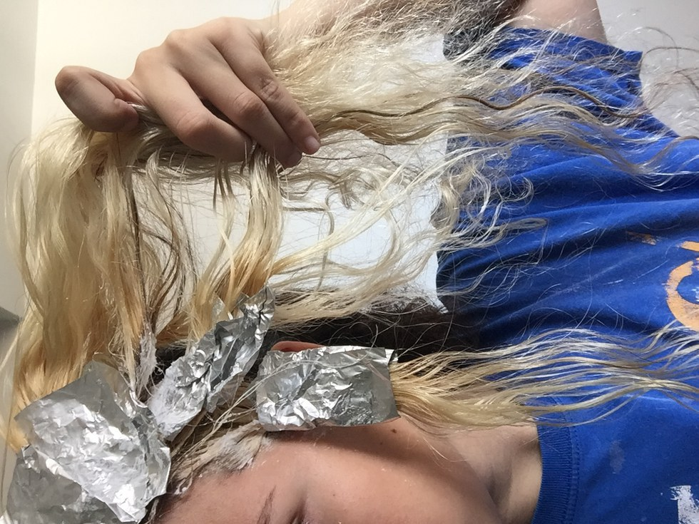 How To Bleach Your Hair Using The Coconut Oil Method