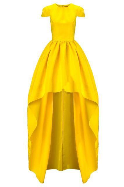 Hufflepuff Yellow Prom Dresses