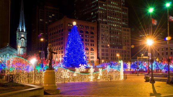 Admire the lights at Public Square - 20 Things To Do In Cleveland This Christmas