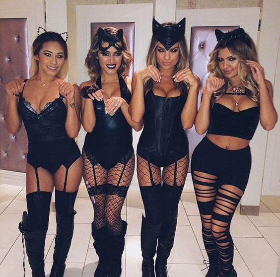 Sexy 3 blind mice halloween costume