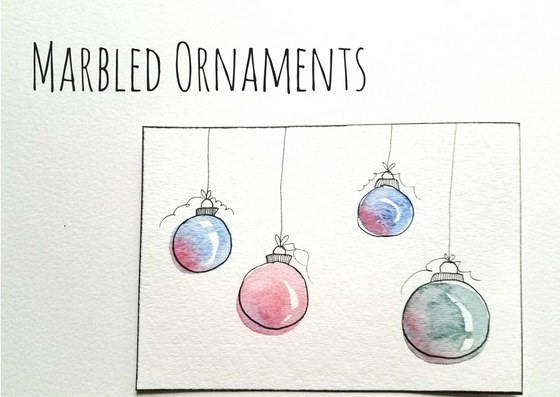I Love Watching Watercolors Blend And Bleed With Each Other To Make These Adorable Ornaments Start By Painting Circles With Any Color Of Your Choice
