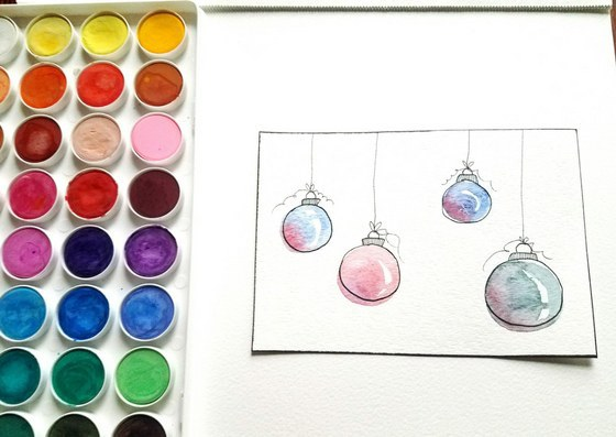 To Make These Adorable Ornaments Start By Painting Circles With Any Color Of Your Choice Leave An Unpainted Line Down The Right Them Look Shiny