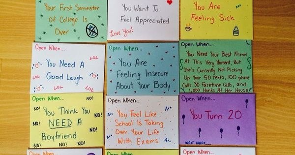these are an inexpensive yet very meaningful gift to give simply write different circumstances on envelopes and a unique letter inside each one - What To Give Your Best Friend For Christmas
