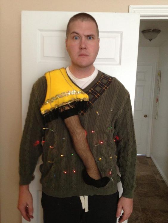a christmas story themed ugly sweater - Ugly Christmas Sweater Ideas Homemade