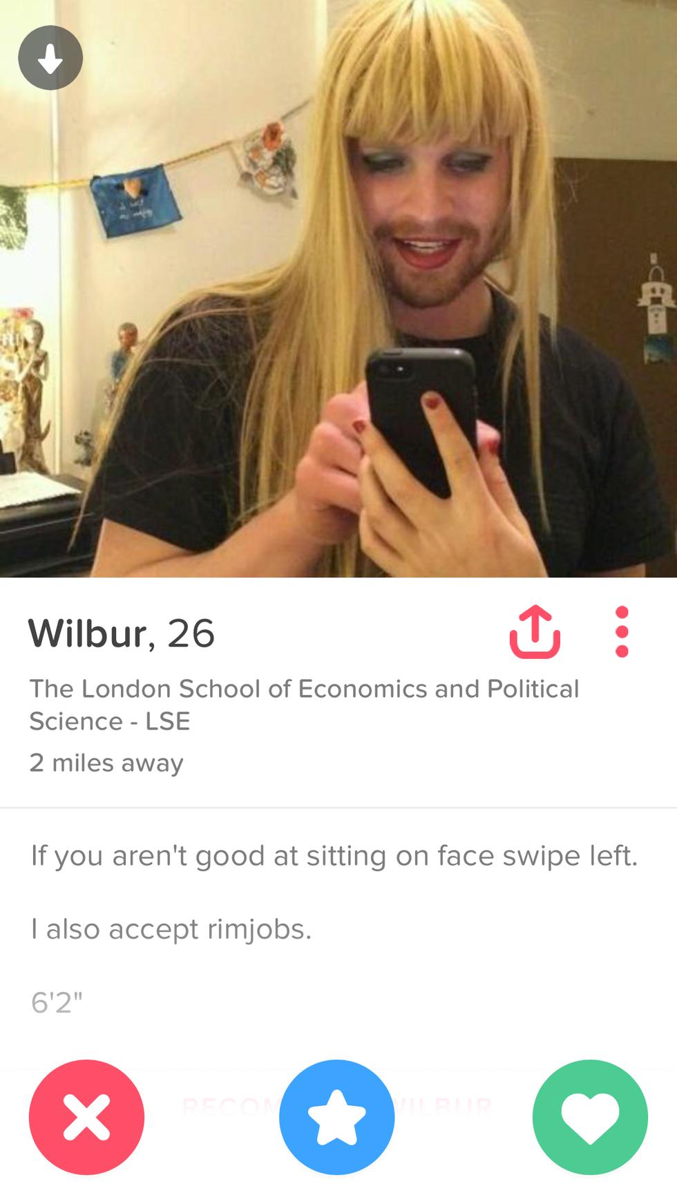 Worst tinder profiles