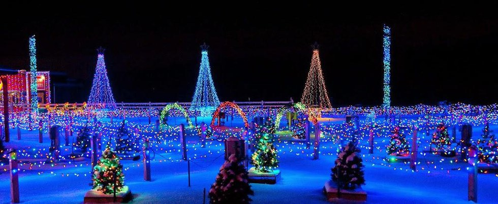 The Christmas Ranch is located just north of the greater Cincinnati are.  The address is 3205 S. Waynesville Road in Morrow, Ohio 45152. - Must See Christmas Light Attractions In Ohio