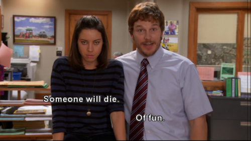 April Ludgate and Andy Dwyer in Parks and Recreation