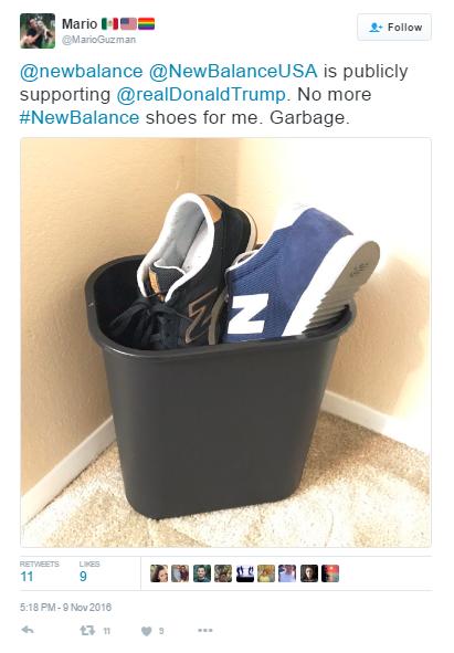 new balance boycott 2018