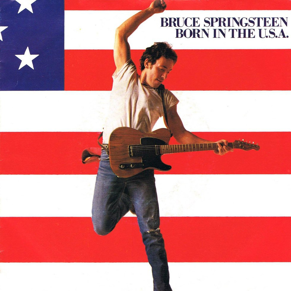 the anthem of american patriotism born in the usa by bruce springsteen