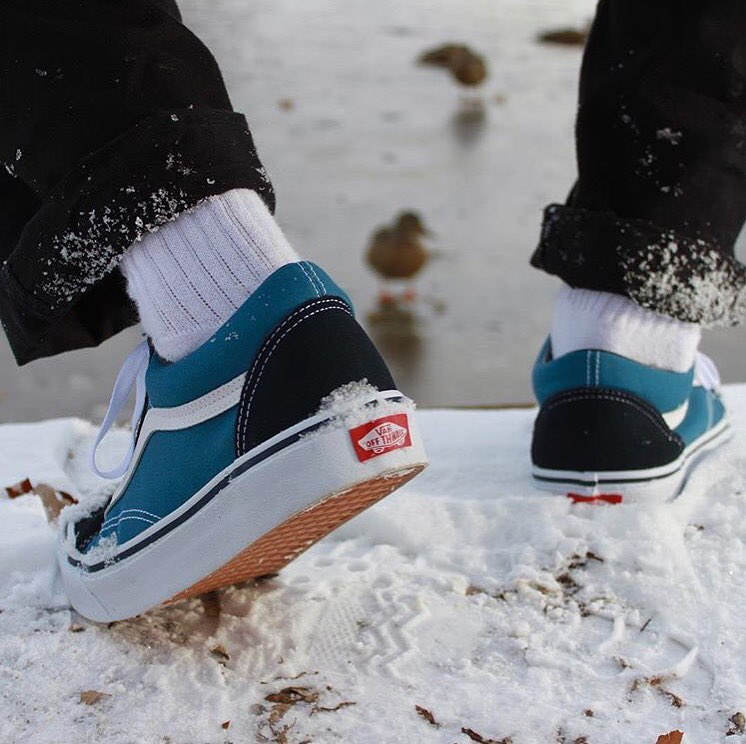 Vans Has A Waterproof Spray That You Can Put On Your Shoes And There Is Even Style Fleece Inside To Keep Feet Warm In The Cold Winter