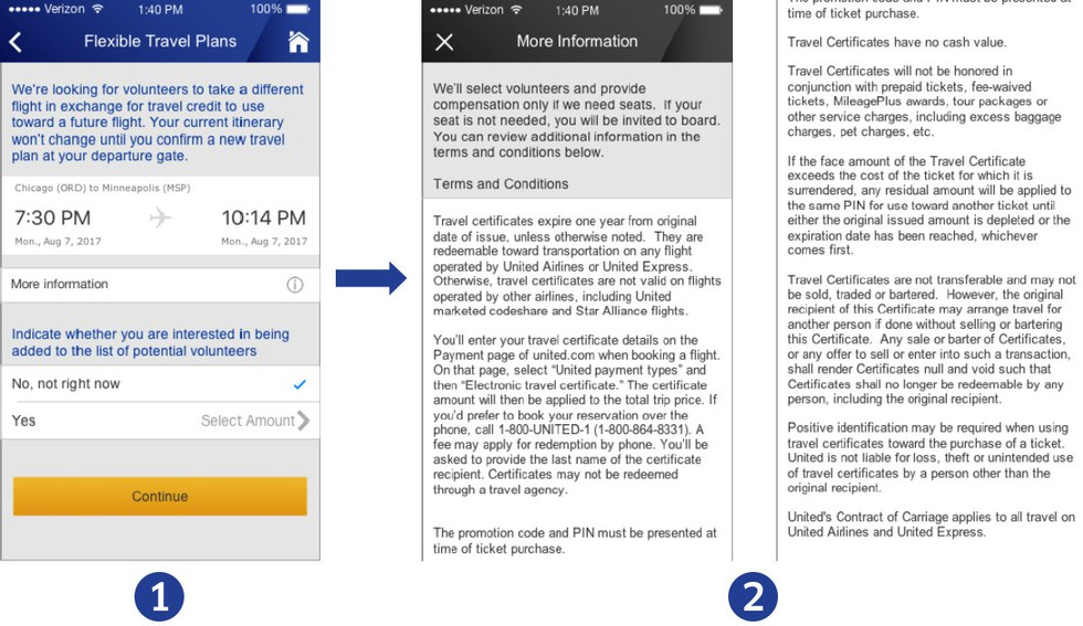 Mobile steps 1 and 2 for volunteer solicitation