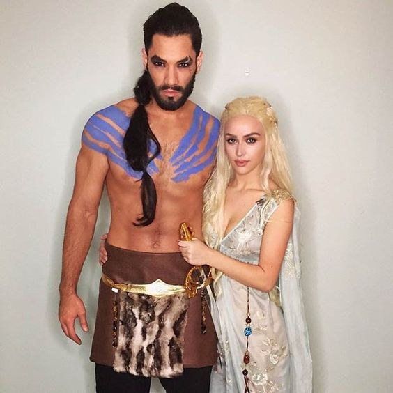 1. Game of Thrones (Khaleesi u0026 Khal Drogo)  sc 1 st  Odyssey : couples halloween costumes ideas  - Germanpascual.Com