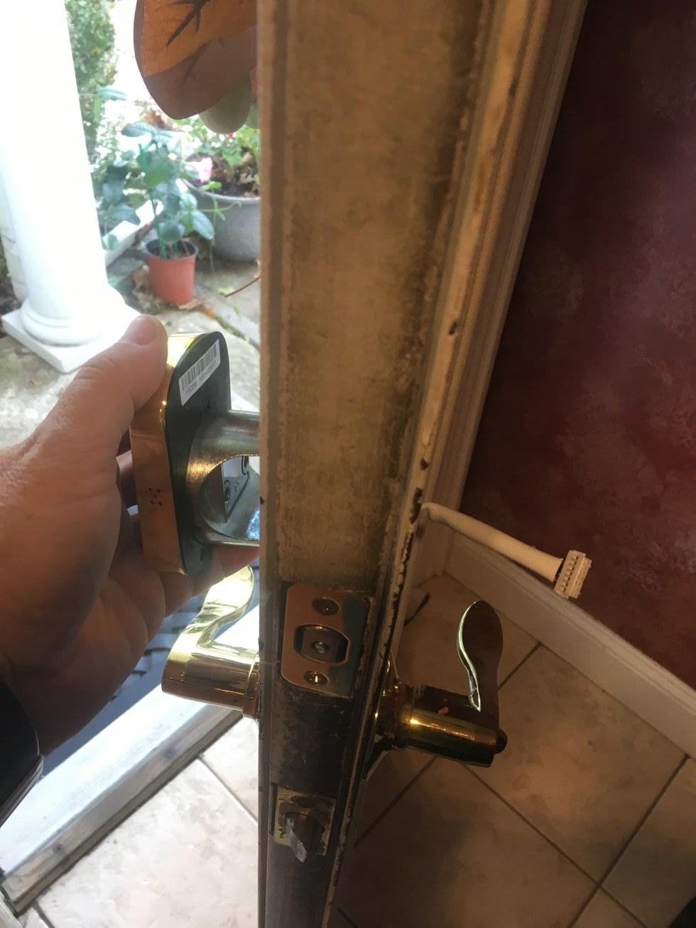 Attach Touchscreen to Frontside of Door.