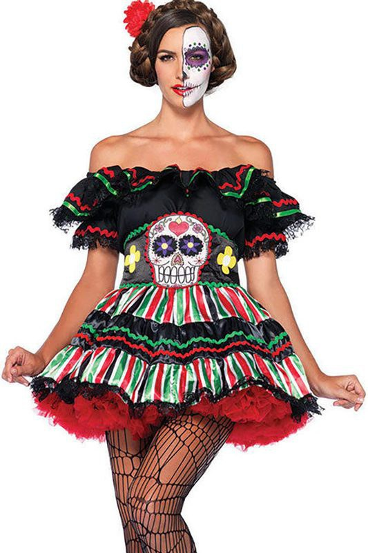 sexy day of the dead costume