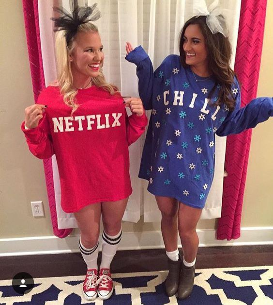 2. Netflix and Chill  sc 1 st  Odyssey & Seven Easy Halloween Costumes for BFFs