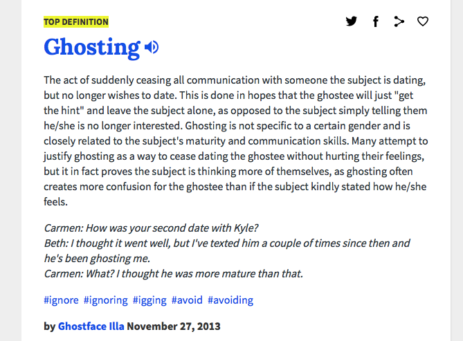 Ghosting dating terms, ass mo ass