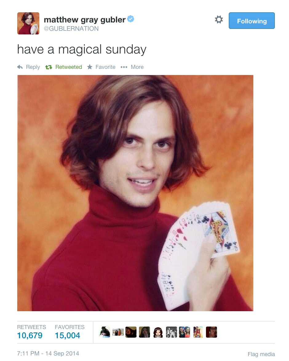 Daily Inspiration From Matthew Gray Gubler To Make Your