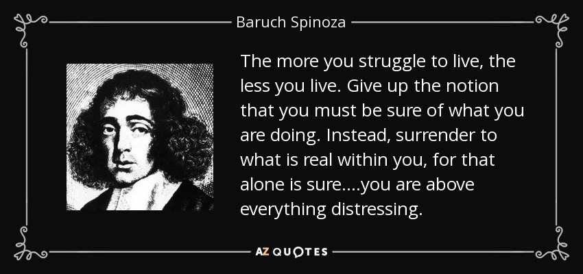 an overview of spinozas life and his conception of god Baruch spinoza (1632-1677), is a dutch philosopher and has written the following works: - treatise on god, man and his happiness (written in latin in 1661) - treaty on reform of the understanding (written probably in 1661.