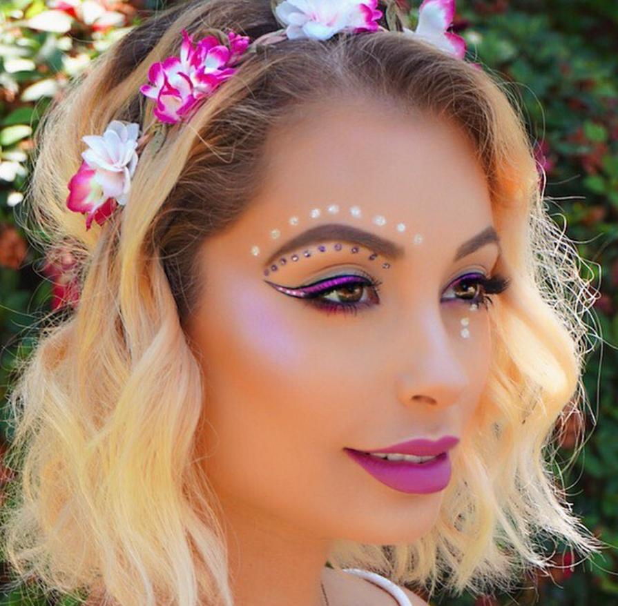 Hippies Flower Power Makeup | Saubhaya Makeup