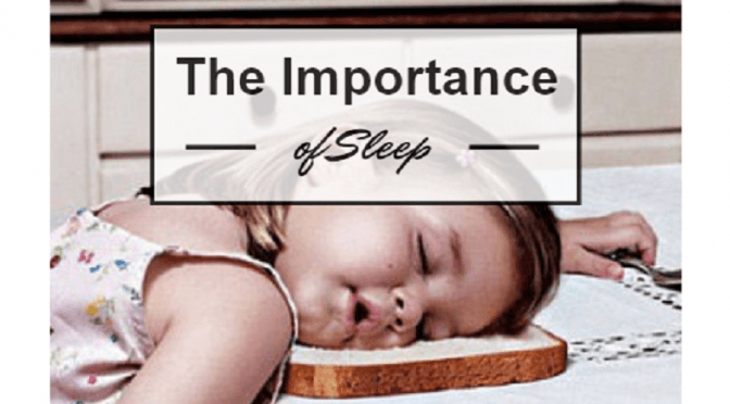 the importance of getting a good night sleep