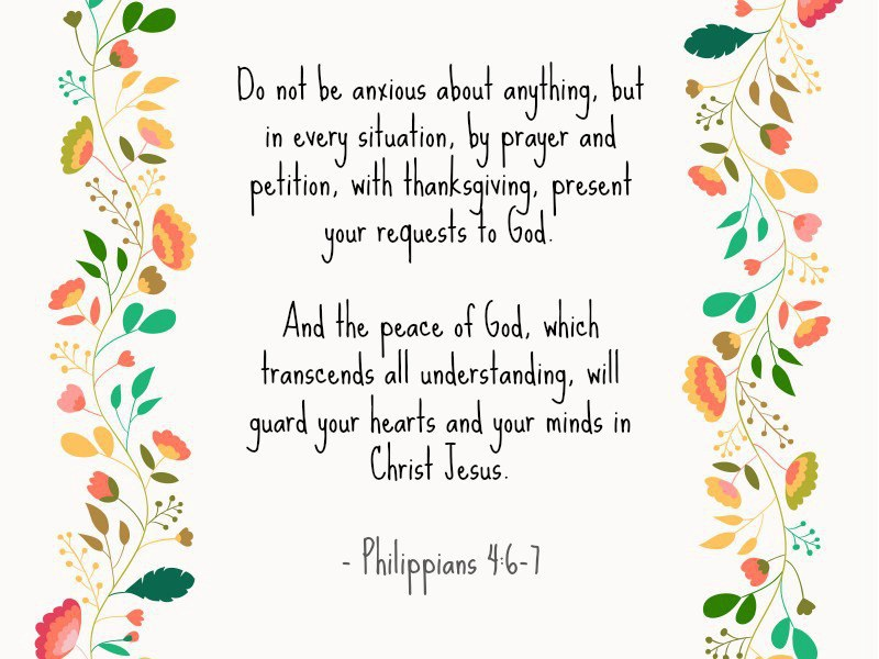 5 bible verses for a worried heart