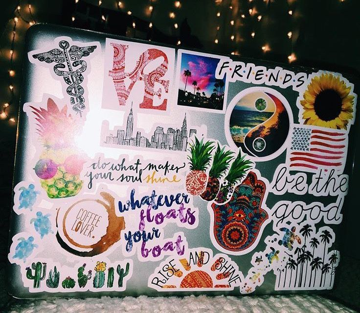 2 laptop stickers - Christmas Gifts For College Girl