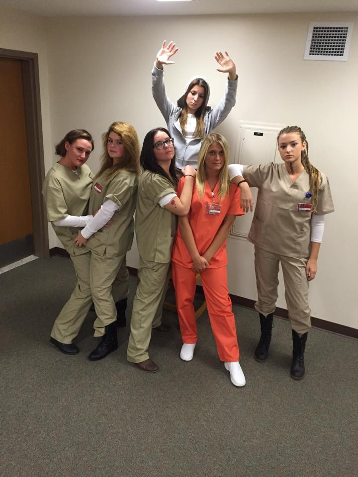 a great idea for a group costume or going solo all you need is the prison uniform then you have a whole cast of characters to choose from