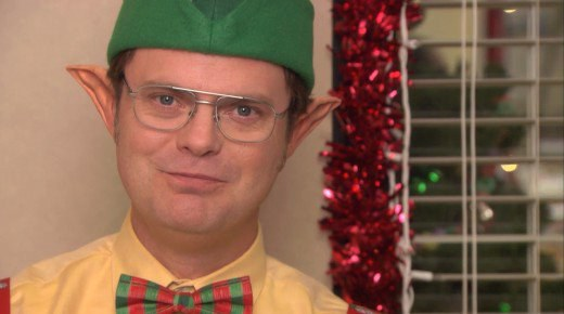 if you watch the show and you should you know that dwight loves holidays such as halloween and christmas and he is not afraid to go over the top in the - The Office Dwight Christmas