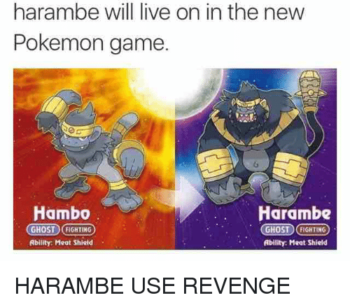 the internet sensation harambe