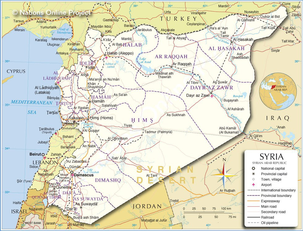 Everything You Wanted To Know About The Syrian Conflict - Where is syria