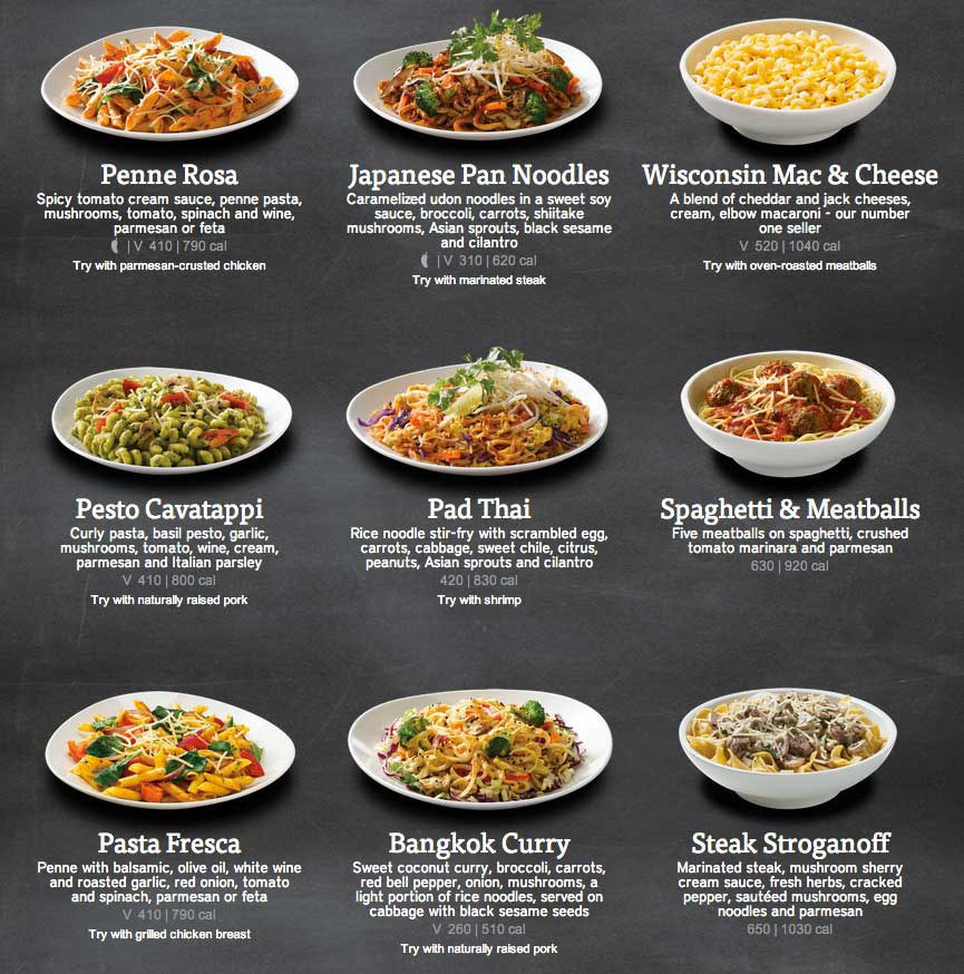 Noodles And Company Free Drink Menu