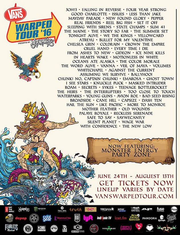 Warped Tour Dallas Band Schedule