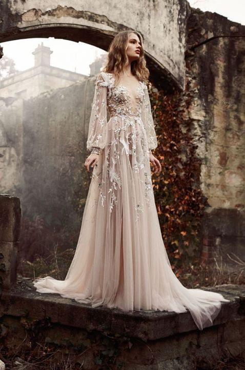8 fairy tale inspired wedding dresses for Fairy inspired wedding dresses