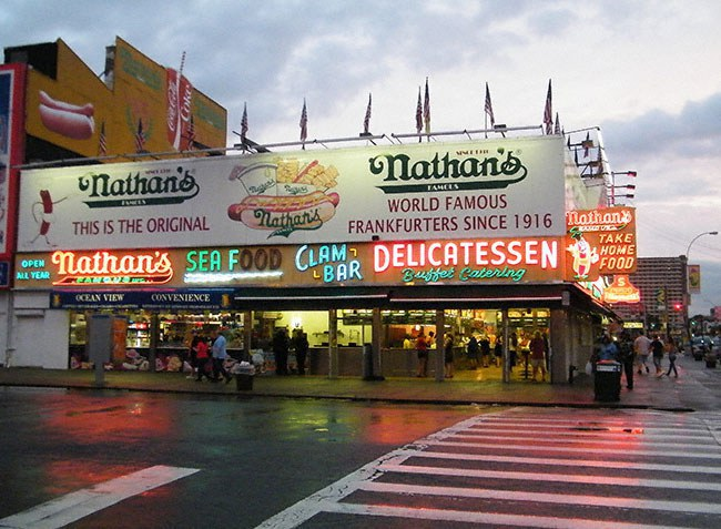 While You Re In Coney Island Enjoying Amazing Pizza Should Also Take A Trip Down To Nathan S Get Hot Dog Another Famous Joint Of