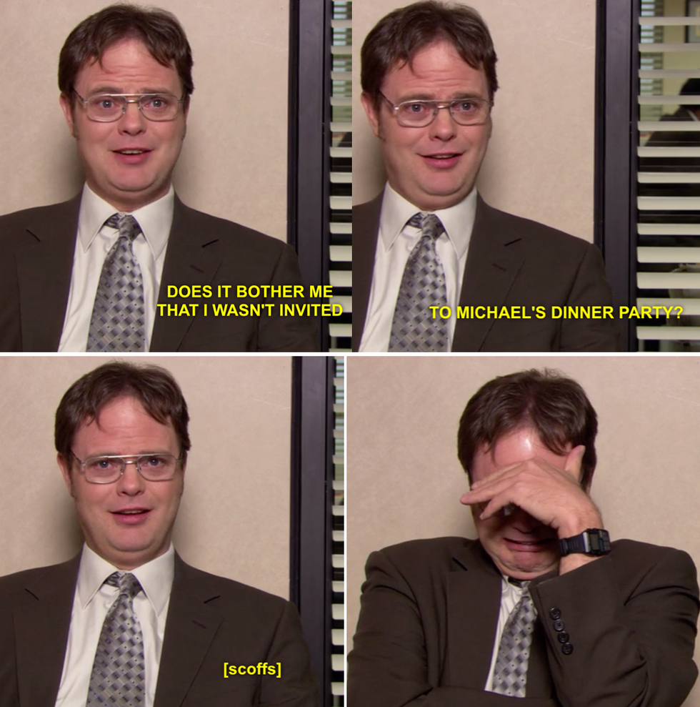 the office pics. dwight wants to go the party. office pics f