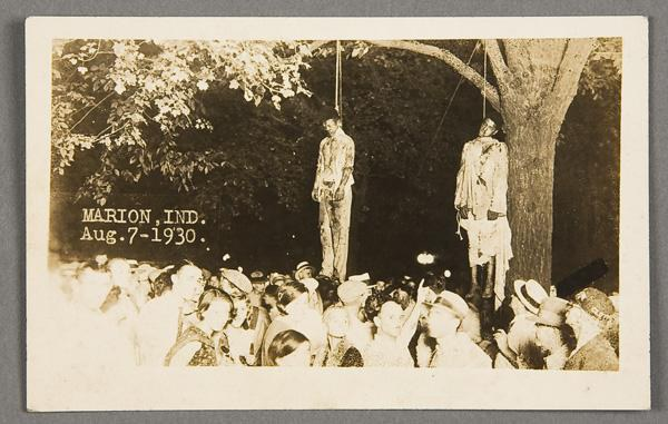 "postcard lynchings Terrorism is defined as ""the use of violence and intimidation in the pursuit of political aims"" western media likes to paint terrorists with a brown face, but one of the most horrific campaigns of terror happened in the past century on american soil – the estimated 3,436 lynchings of black."