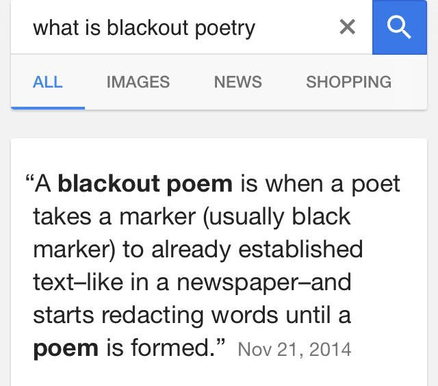 20 Thoughts About Blackout Poetry