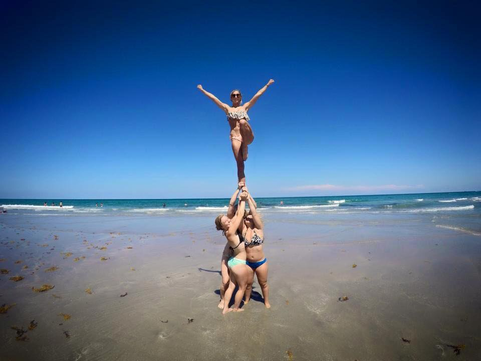 24cc0743a These are the people who you always see stunting or doing flips on the beach.  If you are a cheerleader and don t take a stunting picture on the beach...did  ...