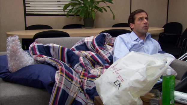 Michael Burns His Foot On A George Foreman Grill In Attempt To Make Breakfast Bed And Orders Someone Fetch Him From House Dwight Being The