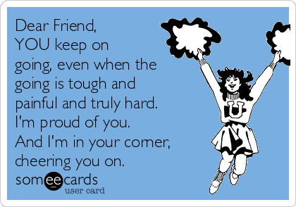 To Be Friends With People Who Make You Proud