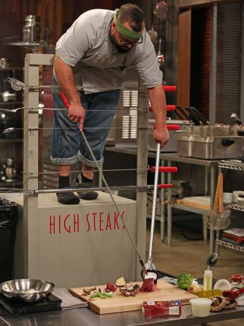 creating a steak dinner from a high steaks position - Cutthroat Kitchen