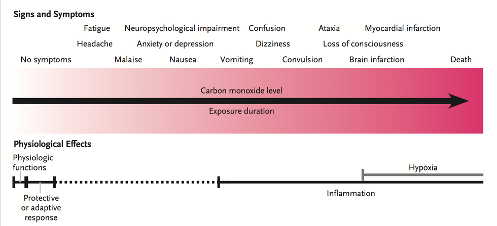 an analysis of the effects of carbon monoxide poisoning What are the effects of carbon monoxide poisoning if untreated, exposure to carbon monoxide gas can prevent red blood cells from carrying oxygen to body tissue long term effects can include brain damage, including problems with memory, mood, behaviour and language.