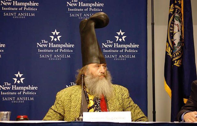 5a3e973cecf Want a change from the traditional image of the President  Vermin Supreme s  signature boot hat is like nothing this country has seen before.