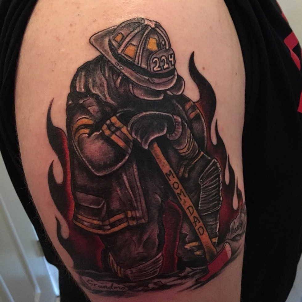 Do you need to hide your tattoo during your next job for Firefighter tattoos and meanings
