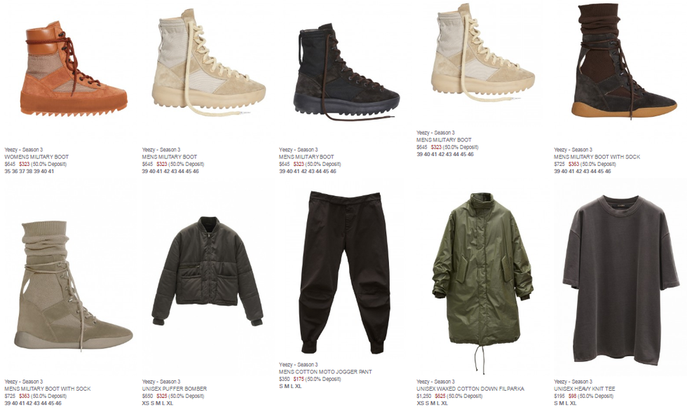 da1f84ce7 Yeezy Season clothing line is very expensive. Nobody can really afford the  clothes unless your rich