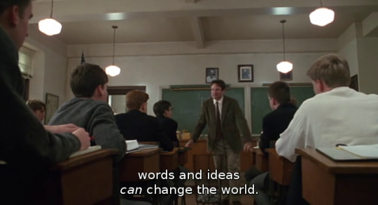 life lessons from dead poets society and write poetry