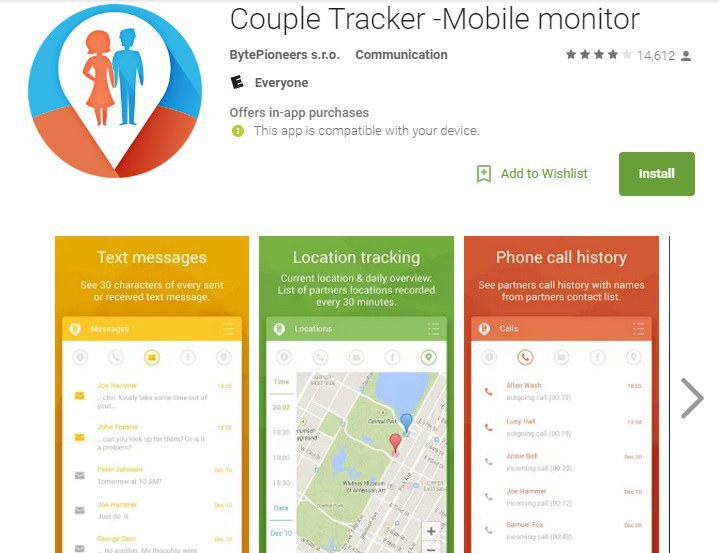 this is how i came across the couple tracker mobile monitor app and yes this is a real thing