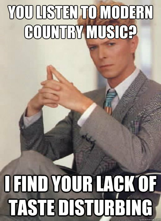 Funny Country Music Meme : Struggles of a classic rock obsessed millennial